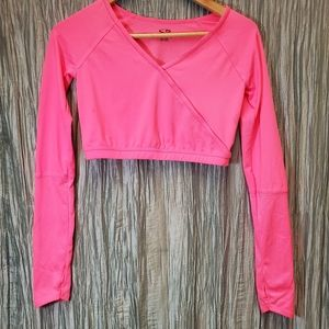CHAMPION Cropped Long Sleeve Sports with Thumb Hol